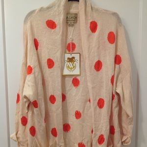 Wildfox polka dot cardigan